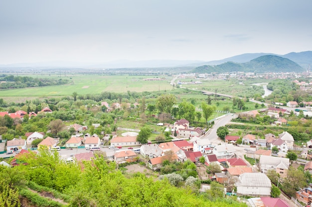 Mukachevo view, city located in the zakarpattia oblast (province), in southwestern ukraine