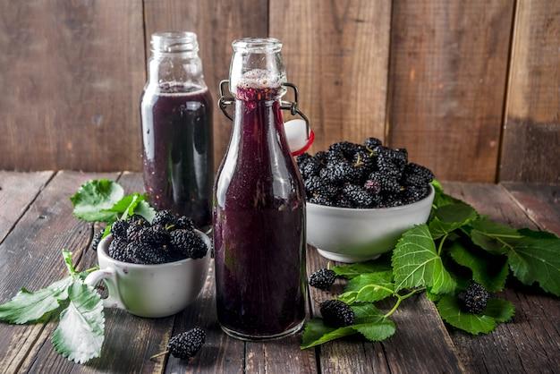 Mulberry shrub, juice or  liqueur