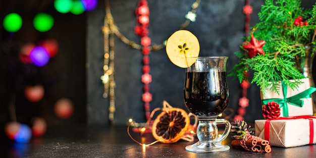 Mulled wine christmas banner