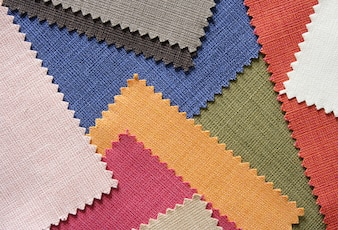 Multi color fabric texture samples