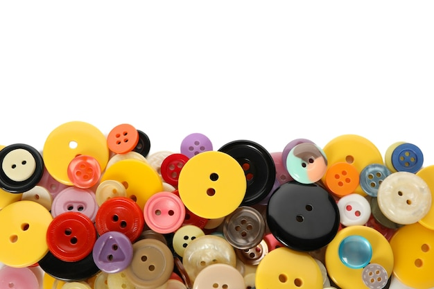 Multi colored buttons isolated on white