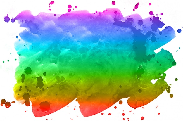 Multi-colored ink stains