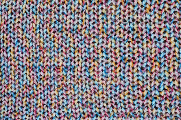Multi-colored knitted fabric.