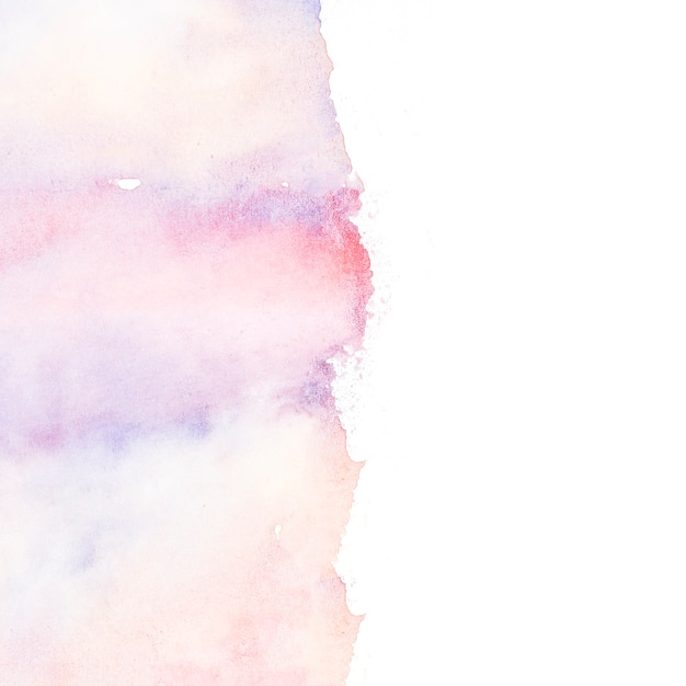 Multi colored paint strokes on white background