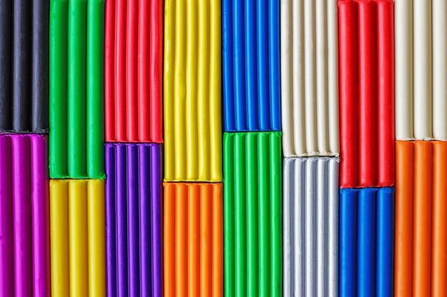 Multi-colored plasticine background