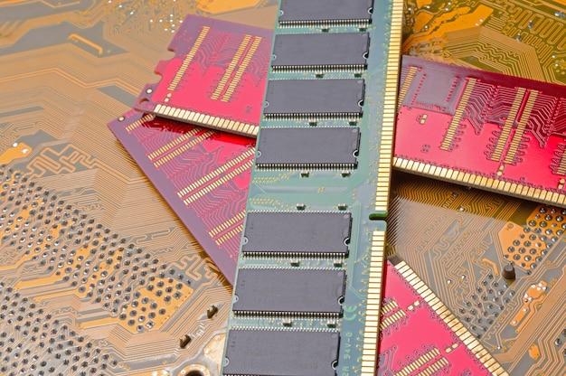 Multi-colored strips of random access memory
