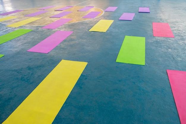 Multi-colored yoga mat