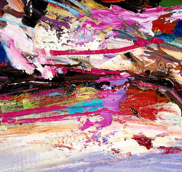 Multi colors oil paint abstract background.