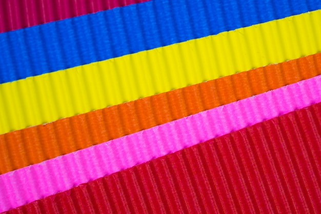 Multi colour corrugated paper texture,