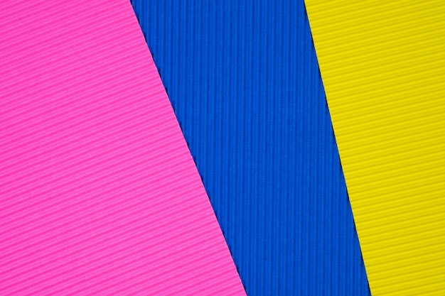 Multi coloured corrugated paper texture background.