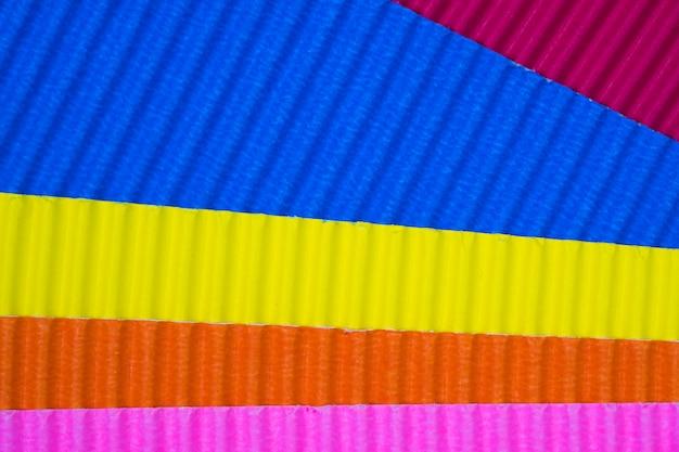 Multi coloured corrugated paper texture