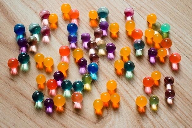 Multi-coloured glass balls