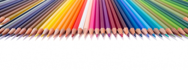 Multi coloured set of pencils
