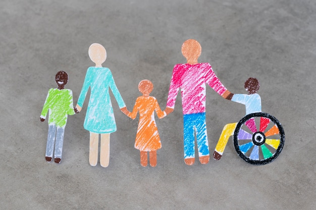 Multi-ethnic and disabled people community