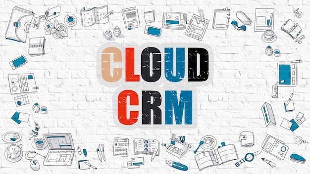다색 개념-클라우드 crm-고객 관계 관리