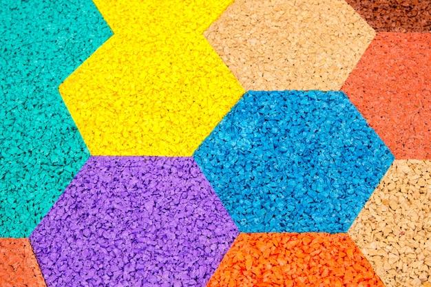Разноцветные шестиугольники абстрактные текстуры фона