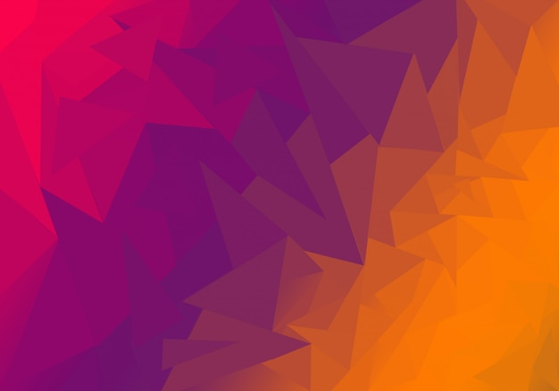 Multicolor polygonal illustration, which consist of triangles.