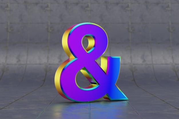 Разноцветный символ амперсанда