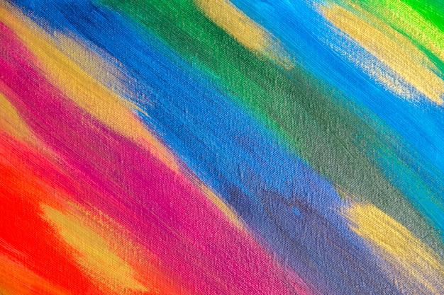 Multicolored background. paint on canvas. abstract acrylic background hand painted.