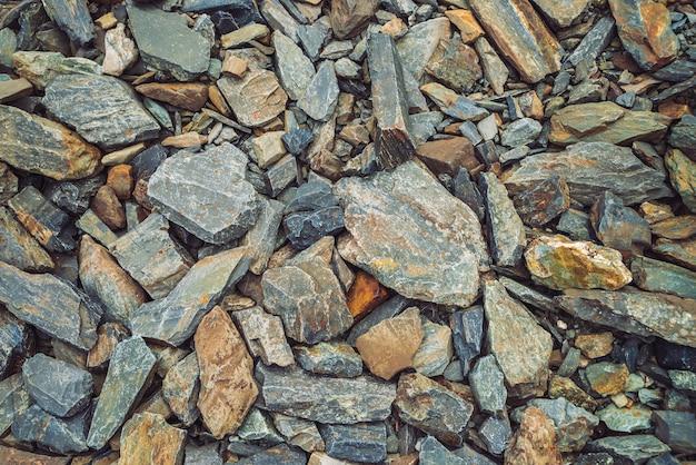 Multicolored boulder stream background