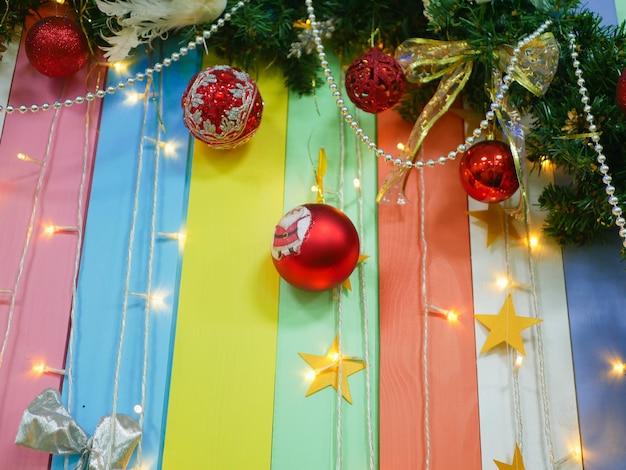 여러 가지 빛깔된의 크리스마스 줄무늬 배경입니다. 새해 구성