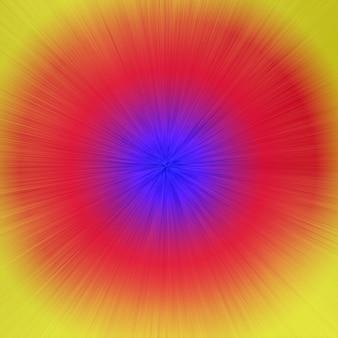 多色の円と線