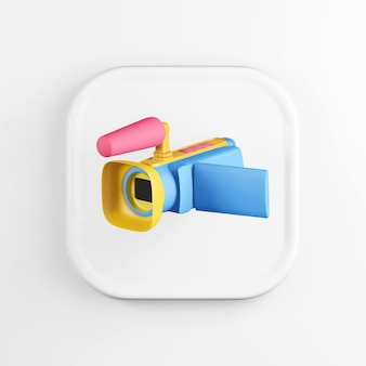 Multicolored digital video camera icon