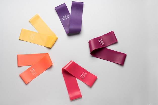 Разноцветная резинка для упражнений