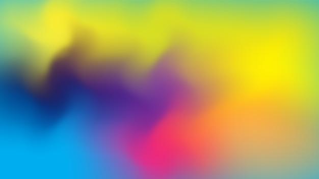 Multicolored flowing abstract gradient background