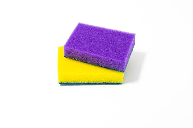 Multicolored foam sponges for washing dishes