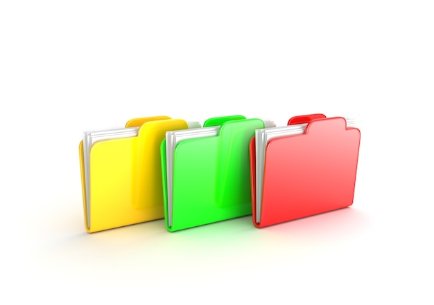 Multicolored folders