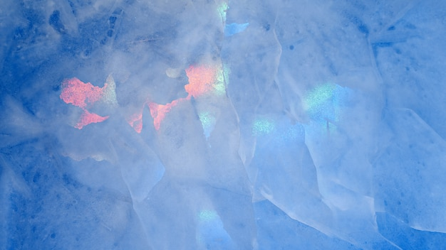 Multicolored glow ice texture background