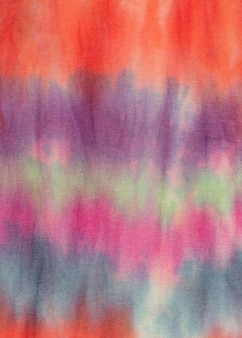 Multicolored gradient tie-dye fabric surface