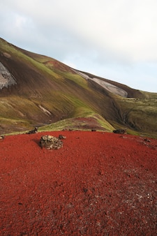 Multicolored landscapes in kamchatka