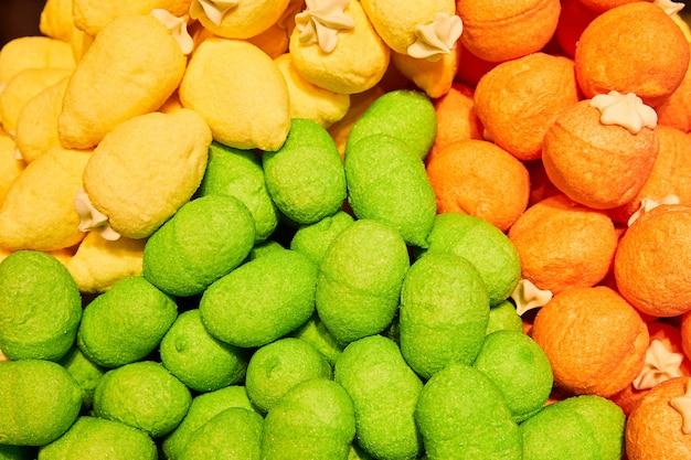 Разноцветный зефир Premium Фотографии