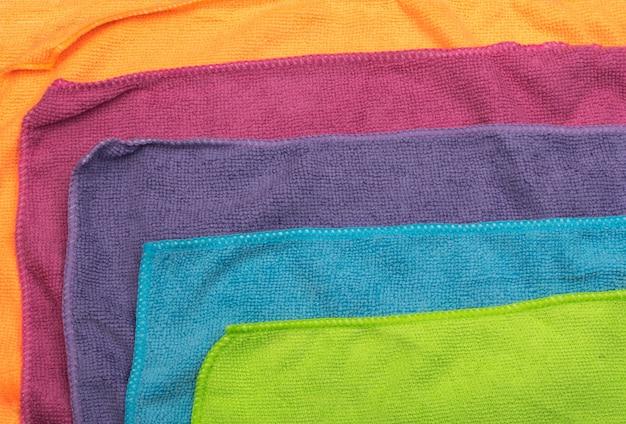 Multicolored microfiber background