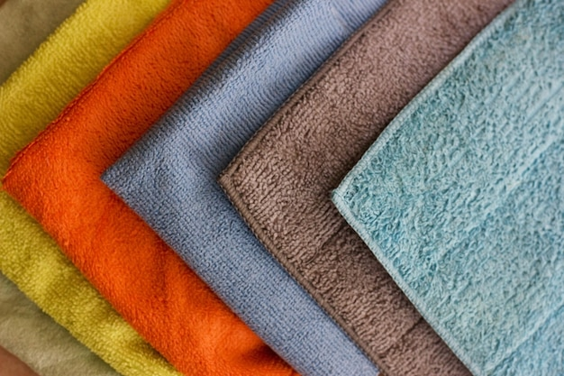 Multicolored microfibre cleaning napkins