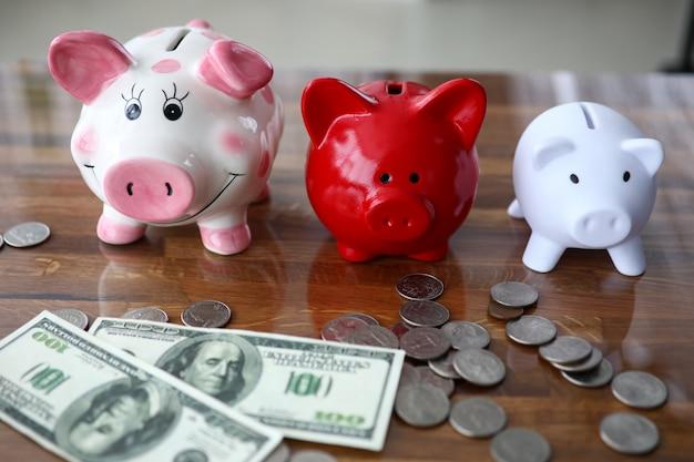 Multicolored piggy bank