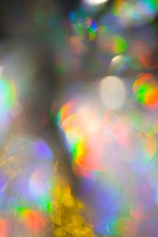 Multicolored rainbow large bokeh effect