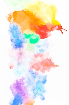Multicolored splashes of watercolor