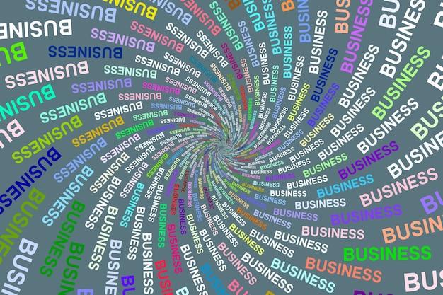 色付きの背景に色とりどりのテクスチャワードビジネス
