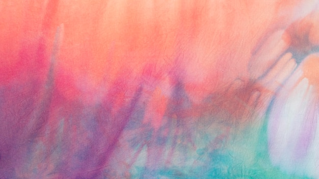 Multicolored tie-dye fabric surface