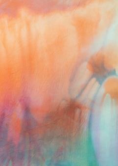 色とりどりの絞り染め生地の表面