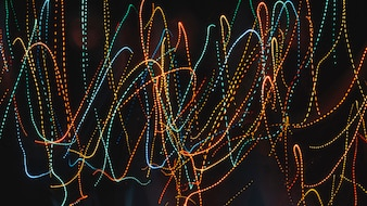 Multicolored trails of neon lights