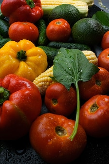 色とりどりの野菜