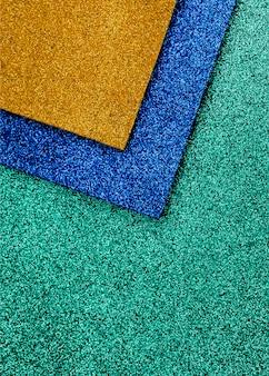 Scintillio vivido multicolore con lo spazio della copia