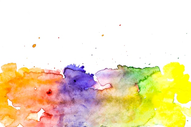 Multicolored wet brush painted smudges background