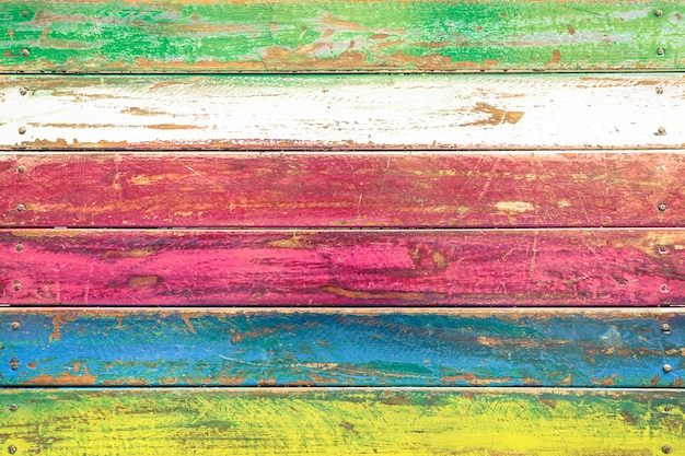 Multicolored wood background and alternative construction material