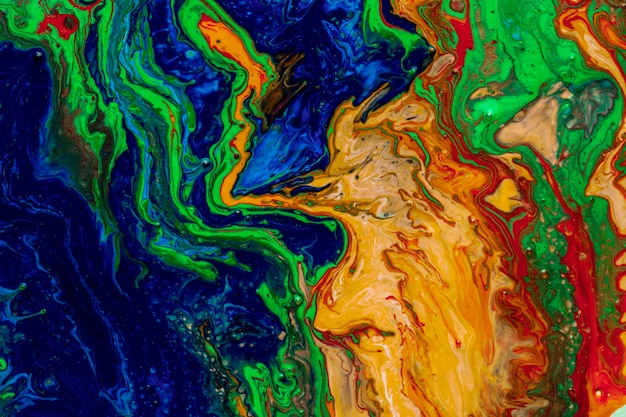 Multicolour colourful background in acrylic pouring