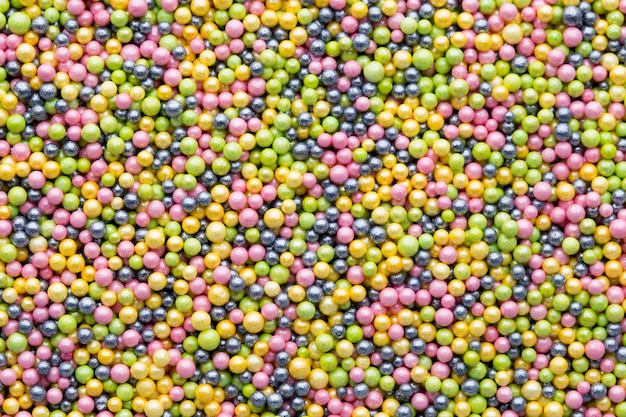 Multicoloured sweet sugar balls. small ball pattern.